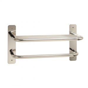 "18"" Stainless Towel Shelf with Bar"