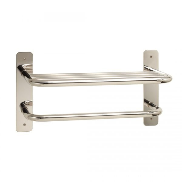 """18"""" Stainless Towel Shelf with Bar"""