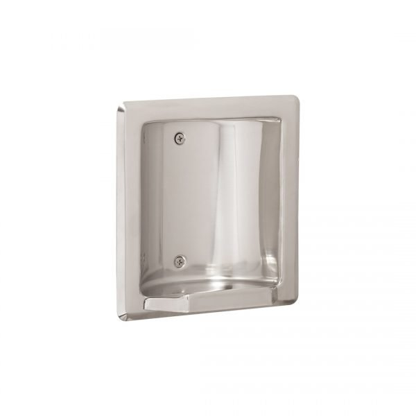 Recessed Soap and Tumbler Holder with Metal Lip