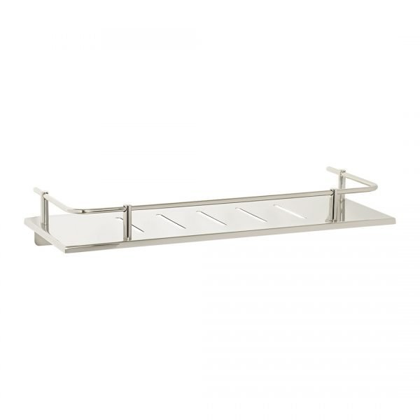 H & H Designer Series Rectangular Sundries Shelf with Rail 16""