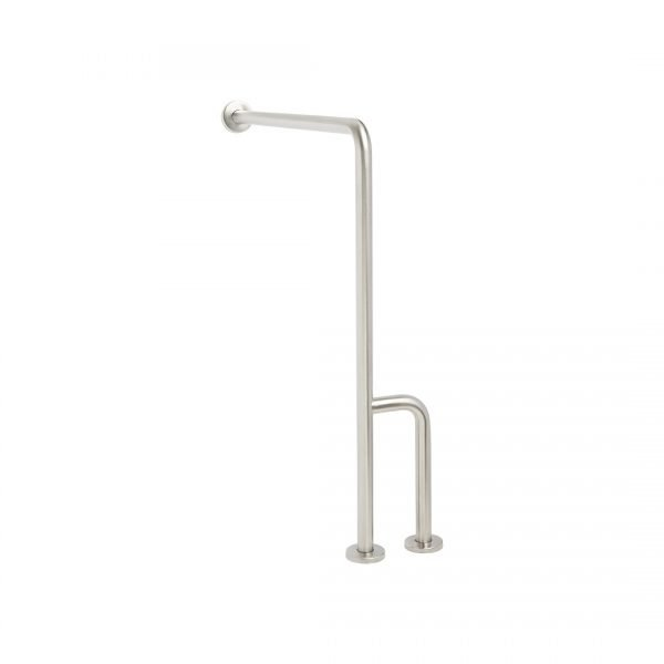 H & H Standard Series Wall To Floor Bar with Side Leg