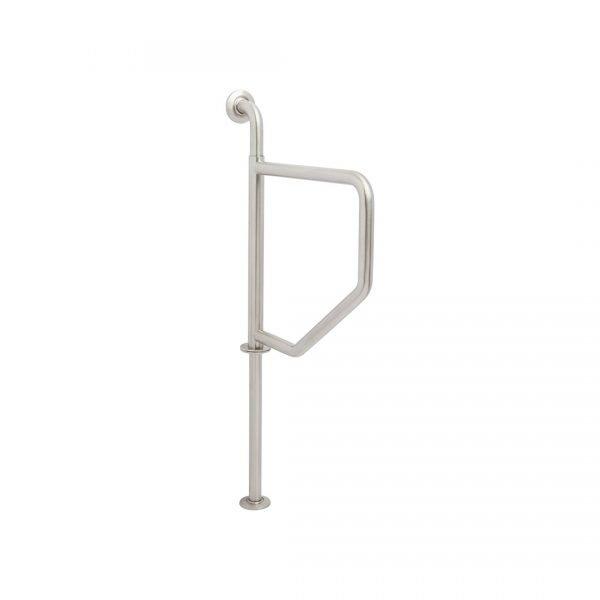H & H Designer Series Wall to Floor Swing Away Grab Bar