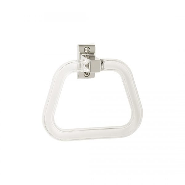 H & H Economy Series Towel Ring with Clear Acrylic Ring