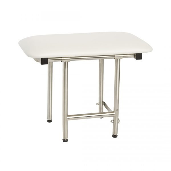 H & H Standard Series Shower Seat - Bench Style with Swing-Down Legs