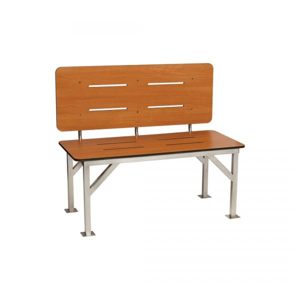 H & H Standard Series Stationary Bench Seat with Backrest