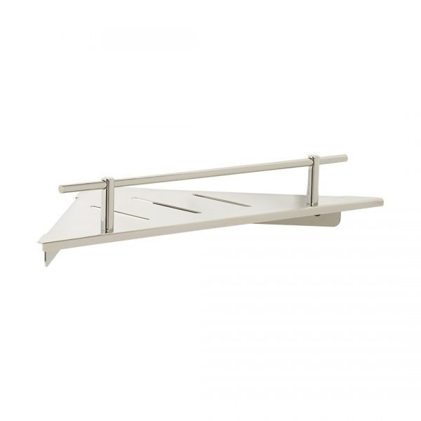 H & H Designer Corner Shower Shelf with Drain Slots
