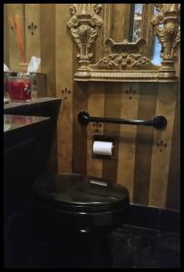H & H grab bar mounted next to toilet