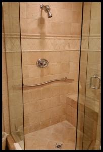 H & H Designer shower grab bar