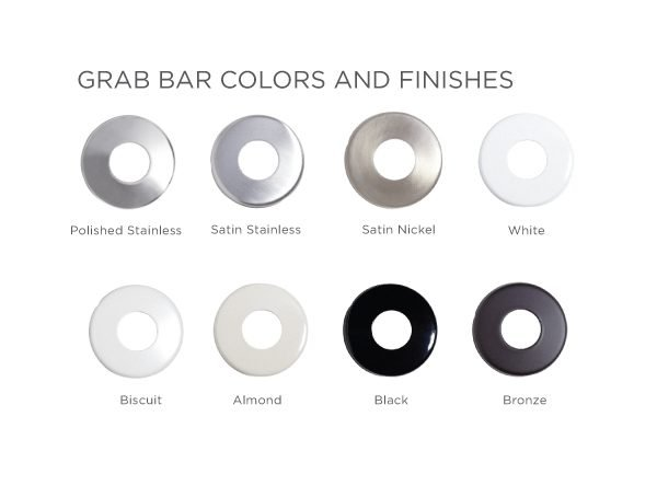 grab bar colors and finishes