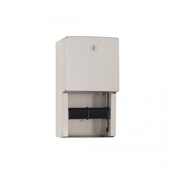 Locking Surface-Mounted Dual Paper Dispenser