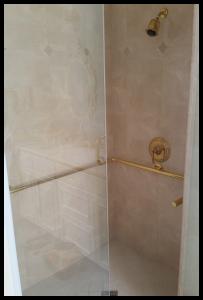 H & H decorative shower grab bars